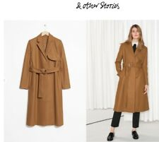 Brand New - Other Stories Camel Khaki Light Brown Wool Belted Coat US 4 EUR 34