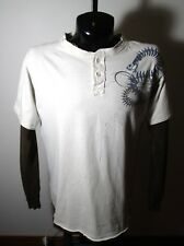 Men's MODERN CULTURE Beige Long Sleeve Crew Shirt Size XL
