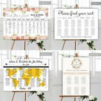 Personalised Wedding Seating Plan Planner Table Plans Signs Order Of The Day
