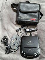 JVC Portable CD Player XL-P60 Cassette Car Adapter Case Hyper-Bass Sound 1994