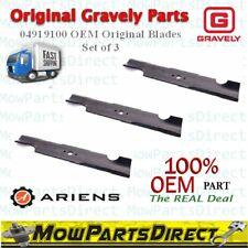 "Gravely Ariens OEM Original 04919100 Lawn Mower Blades for 44"" & 48"" Set of 3"