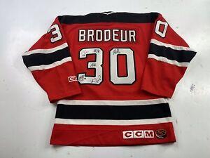 Vintage New Jersey Devils Martin Brodeur Jersey CCM Team Autographs Signed Boys