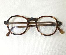 """Horn rimmed glasses Vintage 4"""" width 4.5"""" arm length approx  Old  Prop Child? 41"""