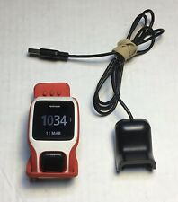 TomTom 8RA0 Runner Cardio GPS Watch  Black White Red w/Charge Cable