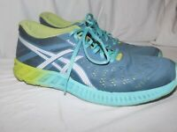 ASICS fuzeX Lyte GEL Running Athletic Womens Shoes SZ 11 Teal Yellow Fade