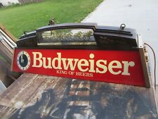Budweiser Pool Table Light Beer Sign W Clocks Worlds Champion Clydesdale Team