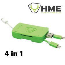 HME 4-In-1 Android IOS SD Card Reader for Trail Camera or Phone HME-QMCR