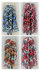 Women`s Long skirt back elasticated waist floral prints. Plus sizes (14-32)