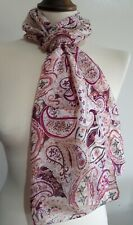 """Brand New Accessorize Floral 100% Silk Scarf (approx 60"""" x 9"""")"""