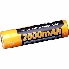 Fenix ARB L18 18650 USB Rechargeable Li Ion Battery 2600mah (lithium)