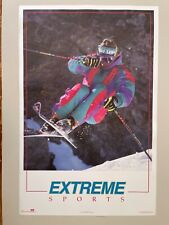 SKIING,EXTREME SPORTS,PHOTO BY CHRISTIAN SCHNEIDER,AUTHENTIC 1990's POSTER