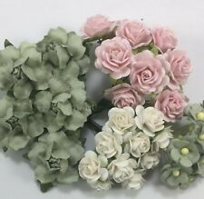 35 Mix Paper Flower Wedding bouquet DIY Scrapbook Card Topper TH/SET-Q5(167)