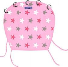 Dooky Sonnenschutz für Kinderwagen Buggy Babyschale Design rosa mit Sternen