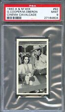1940 A&M WIX Film Card 41 GARY COOPER Merle OBERON The Cowboy and the Lady PSA 9
