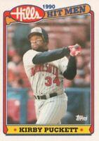 1990 Topps Hills Hit Men Baseball #27 Kirby Puckett Minnesota Twins