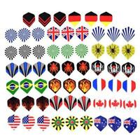 60 stücke Dart Flights 20 Sets Gemischte Art Farbige Darts Flight Standard Form