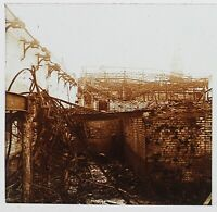 Guerre 14-18 Albert IN Ruines Francia Foto Stereo PL46Th3n15 Placca Vintage