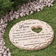 """Personalized """"Those We Love"""" Garden Yard Memorial Stepping Stone Marker Grave"""