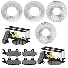 Front And Rear Brake Disc Rotor W/ Pad For Yamaha Rhino 700 YXR700 4X4 2008-2013