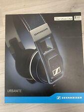New Sennheiser URBANITE for iPhone Denim Headband Headsets-Open box