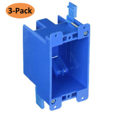 Single Gang Wall Outlet Switch Oldwork Plastic ElectricalBox 1gang 14 CU in