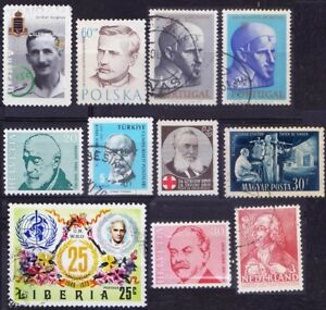 Lot of 11 used stamps on Medicine Theme