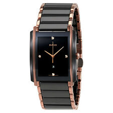 Rado Integral L Black Dial Ceramic Diamond Mens Watch R20207712