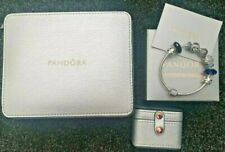 New Pandora Bracelet Charms Limited Edition Blue Crystal + Jewellery + Ring Case