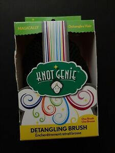 Knot Genie Detangling Brush Puff Of Purple -open box!