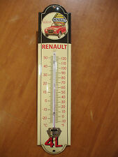 PLAQUE EMAILLEE thermometre VOTRE RENAULT 4L R4  ENAMEL TIN SIGN thermometer