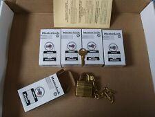 Military Bump Stop Master Lock Pad Lock Set Lot Of 5 W/7 Keys All Keyed Alike