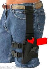 Tactical Drop Leg Holster fits Beretta 92 series Left Hand Black Nylon
