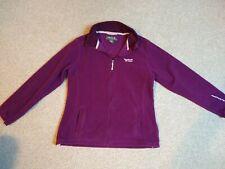 Regatta fleece, size 14. Purple, front zip