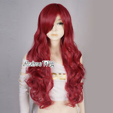 Wine Red Curly 70CM Long Anime Cosplay Heat Resistant Full Wig For Poison Ivy