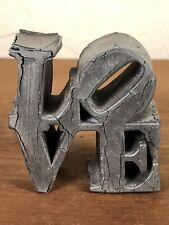 Vintage Robert Indiana Love Sculpture Pop Art Sculpture USA 1970's MCM
