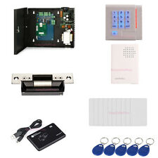 Single Door Gate Access Control Systems Kits ID Card USB Reader ANSI Strike Lock