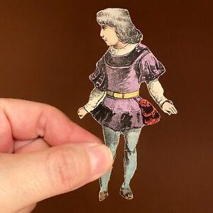 Schreibers Papiertheater Lithografie+Holz Y) WILHELM TELL 1880er 10cm ALT: 19Jh!
