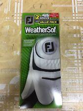 NEW FootJoy Weathersof 2 Glove Value Pack Men's Large (2 Gloves) RH golfer