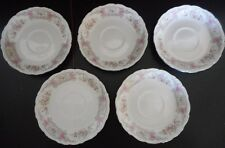 Set of 5 Style House Pompadour Saucers Mini Plates Dish Made in Japan Fine China