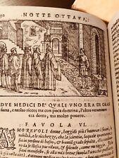 1599 LE TREDICI PIACEVOLISSIME NOTTI di G.F.Straparola(racconti Erotici, Enigmi)