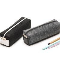 Fashion felt pencil case travel portable cosmetic bag stationery school offic ot
