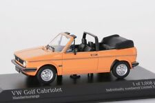 VW Golf Cabriolet 1980 orange Minichamps 1:43 NEU/OVP