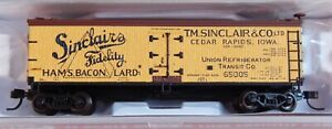 "Atlas N-Scale #50002683 40' Wood Reefer BILLBOARD CAR ""SINCLAIRS"" 65005"