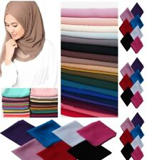 NEW Exclusive Chiffon Scarf Hijab High Quality Sarong Shawl Wrap Plain Georgette