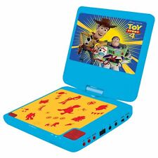 """TOY STORY 4 DVD PLAYER PORTABLE 7"""" LCD DISPLAY BUZZ WOODY FORKY KIDS"""