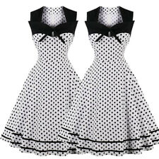 Pleated Polka Dot Rockabilly Dress Pin Up Swing 50s 40s Retro Vintage PLUS SIZE