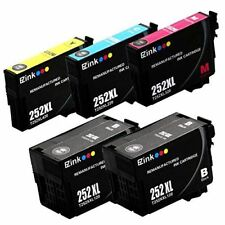 Printer Ink Cartridge Refill Toner Black Color FOR Epson 252XL 252-XL (5 PACK)