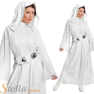 Ladies Princess Leia Costume Deluxe Star Wars Fancy Dress Outfit