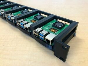 "1U Rack for Raspberry Pi, 19"" Rackmount Supports upto 6 Units"