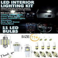 11x White T10 LED Lights 31mm Festoon Dome Map Tag Car Interior Bulb package Kit